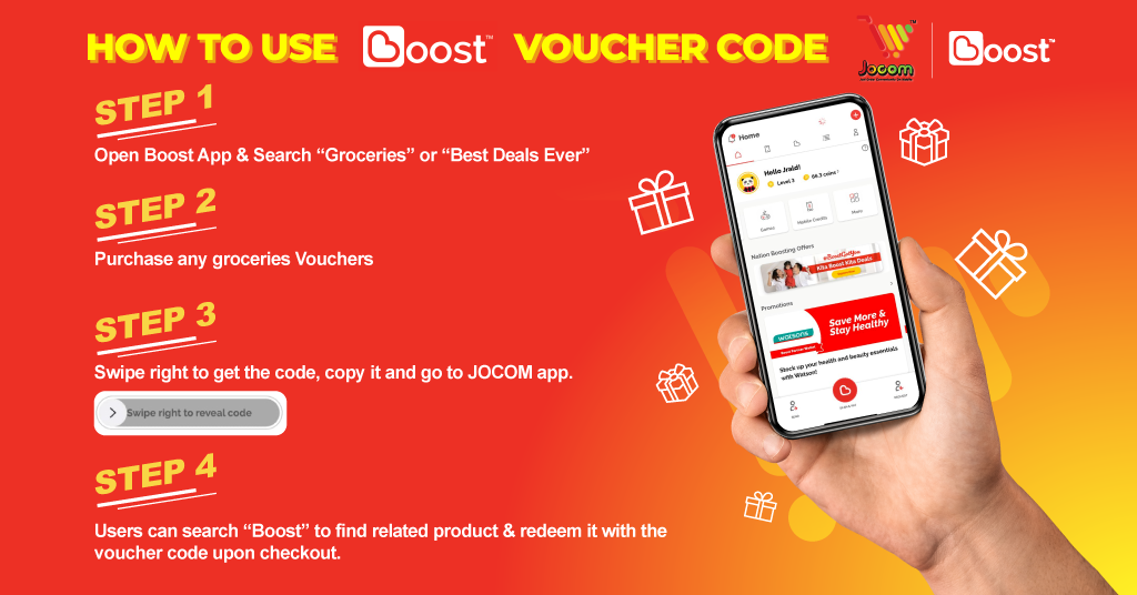Buy Boost Voucher & Get more discount!